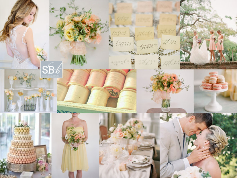 Inspiration Board: Lemon & Peach Sorbet | SouthBound Bride
