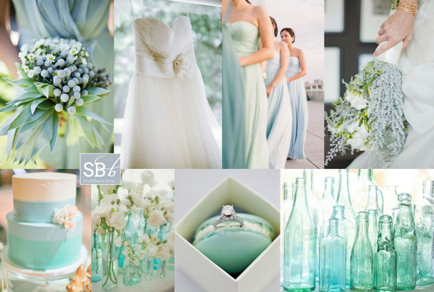 Colour Story: Placid Blue & Hemlock | SouthBound Bride