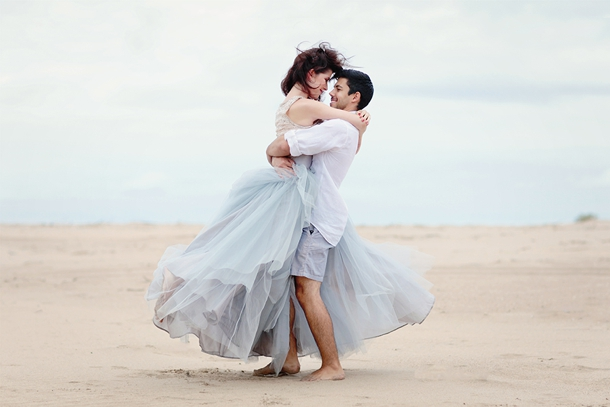 Romantic Beach Elopement Wedding Inspiration by Pickle Photography | SouthBound Bride