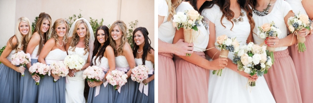 006 two tone colour block bridesmaid dresses for Two color wedding dress