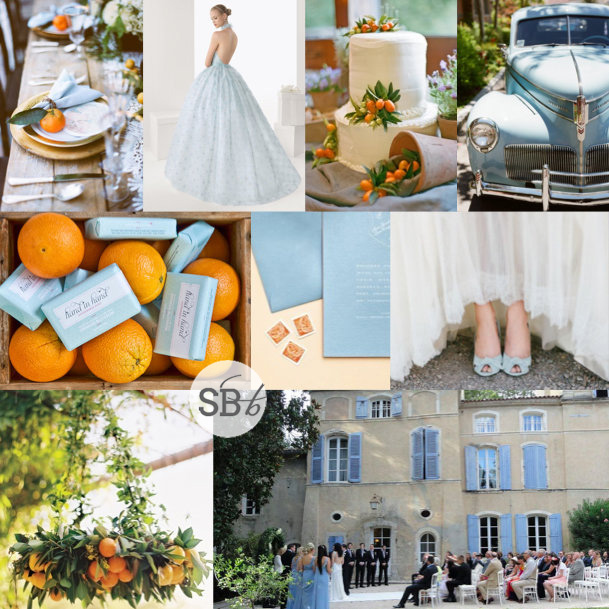Inspiration Board: Cornflower & Orange Grove | SouthBound Bride