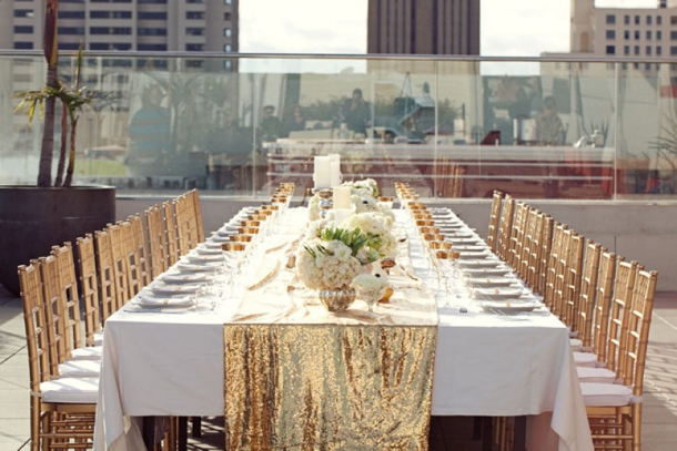 Sequin Table Runners | SouthBound Bride