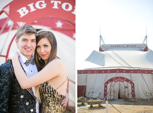 A Day at the Circus Engagement Shoot by Elandre Montgomery | SouthBound Bride