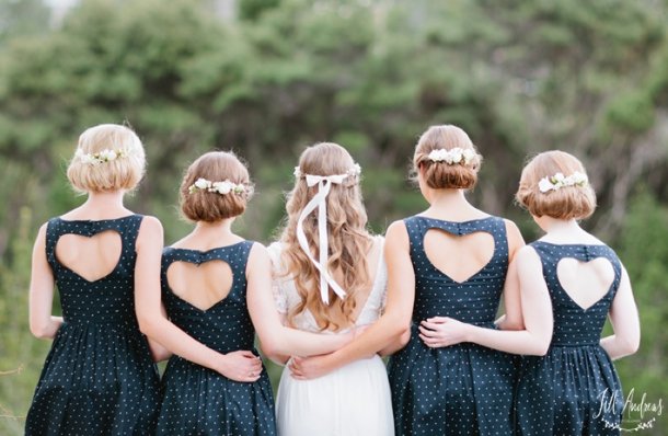Illusion Neckline & Statement Back Bridesmaid Dresses | SouthBound Bride