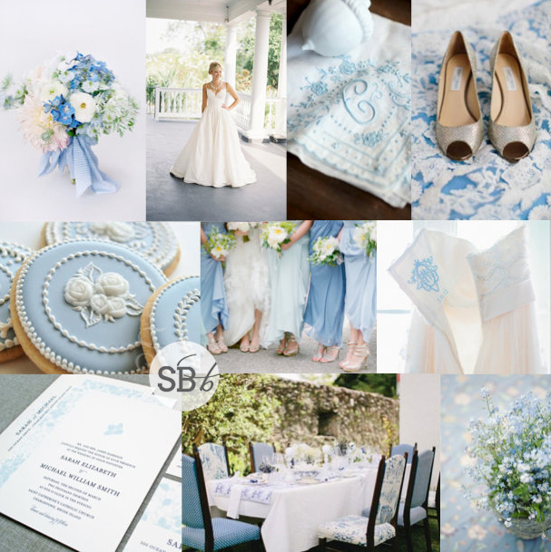 Inspiration Board: Wedgwood & Wildflower | SouthBound Bride