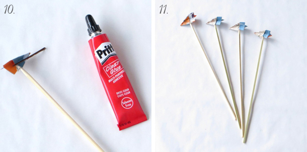 DIY Paper Plane Drink Stirrers | SouthBound Bride