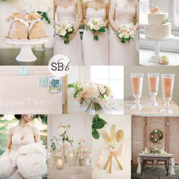 Inspiration Board: Kraft & Blush | SouthBound Bride