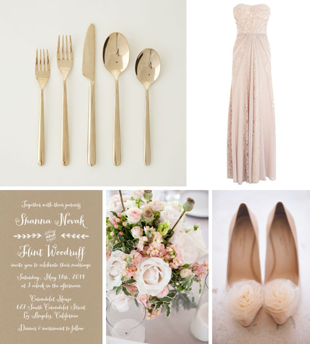Colour Story: Kraft & Blush | SouthBound Bride
