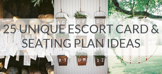 25 Unique Escort Card & Seating Plan Ideas | SouthBound Bride