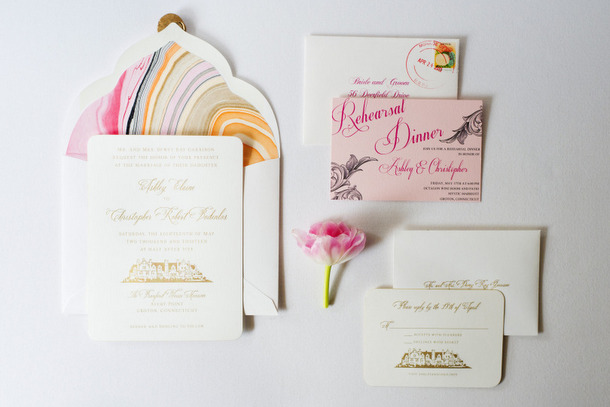 Marbled Wedding Invitations | SouthBound Bride