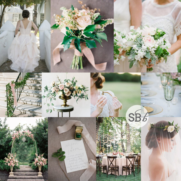 Inspiration Board: Emerald & Blush | SouthBound Bride