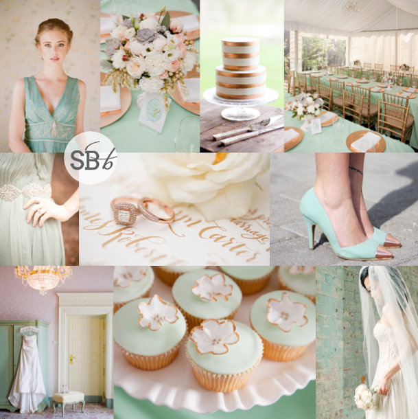 Inspiration Board: Mint & Rose Gold | SouthBound Bride