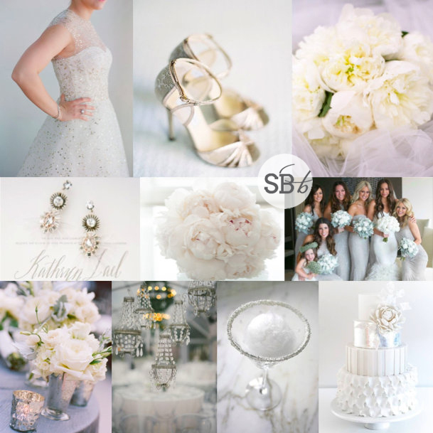 Inspiration Board: Sophisticated Silver | SouthBound Bride