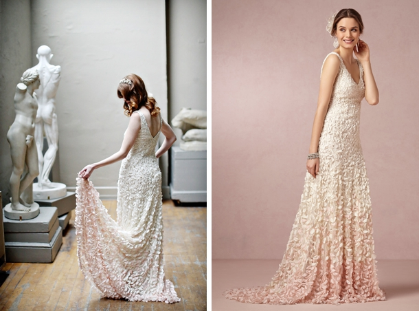 004 southboundbride dip dye ombre wedding dresses for Dyeing a wedding dress professionally