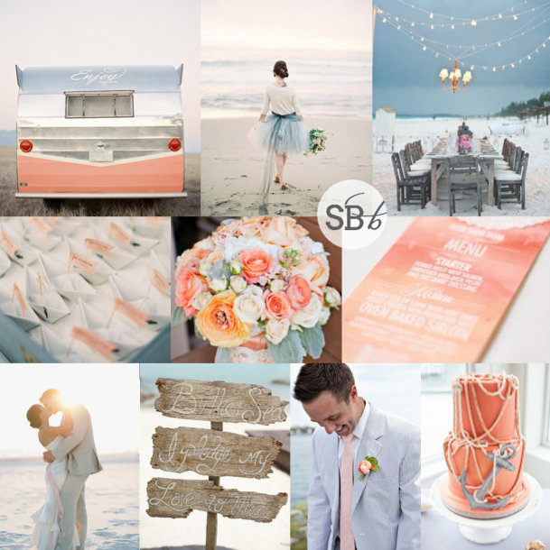 Inspiration Board: Beach Sundowner | SouthBound Bride