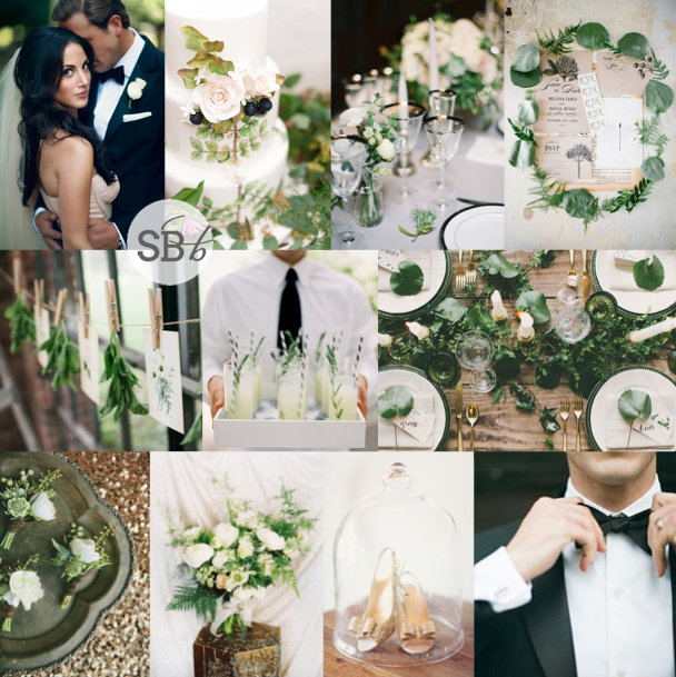 Inspiration Board: Black Tie Botanical | SouthBound Bride