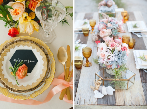 Hexagon Wedding Details | SouthBound Bride