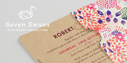 Seven Swans stationery collection