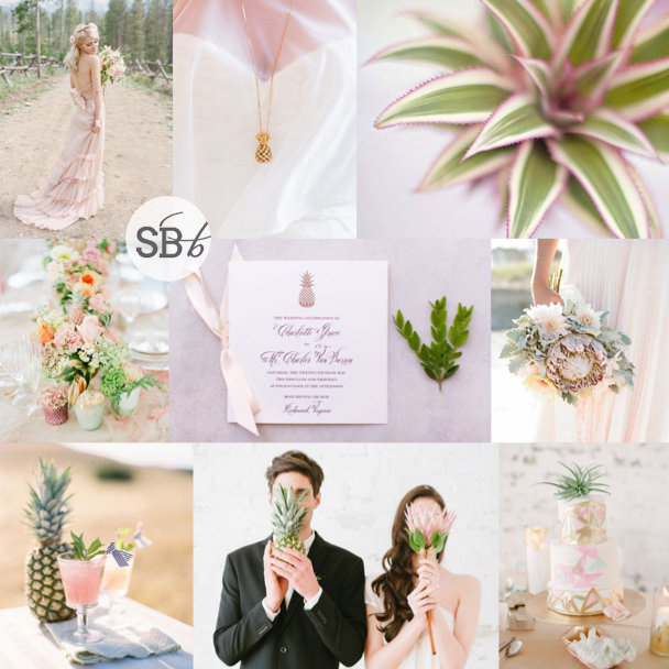 Inspiration Board: Tropical Blush | SouthBound Bride