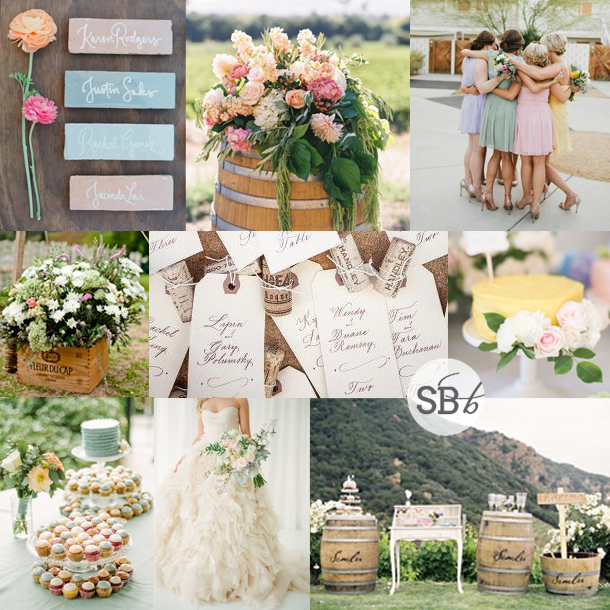 Inspiration Board: Wineland Pastels | SouthBound Bride