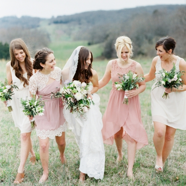Mismatched Blush Bridesmaid Inspiration from Forever 21 | SouthBound Bride