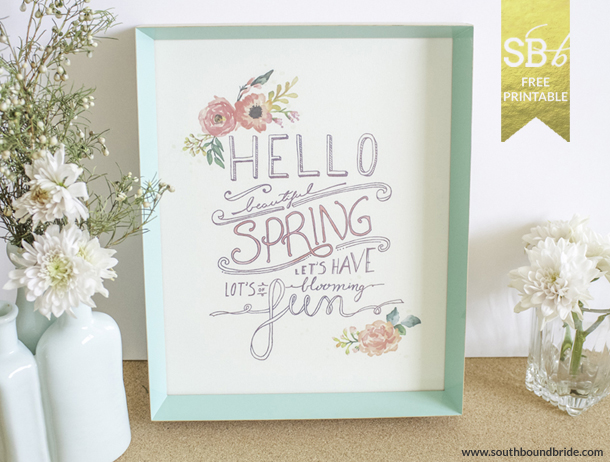 Spring Printable by Mocholoco | SouthBound Bride