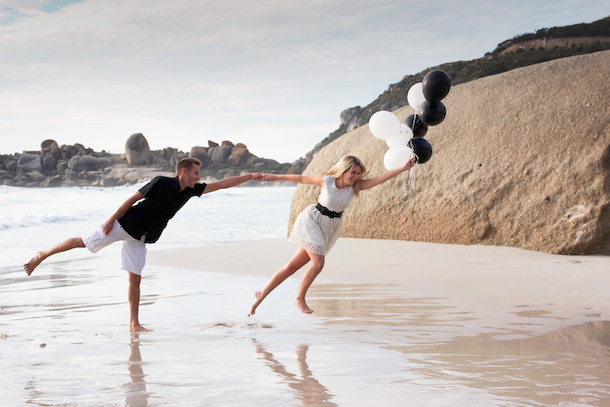 Beach Monochrome Engagement Shoot by Dillon Kin | SouthBound Bride