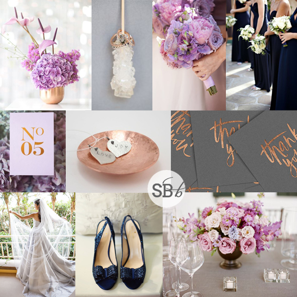 Inspiration Board: Copper, Orchid & Navy | SouthBound Bride