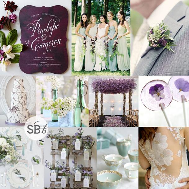 Inspiration Board: Pansy & Pastel | SouthBound Bride
