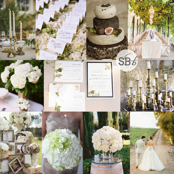 Inspiration Board: Hydrangea & Brass | SouthBound Bride