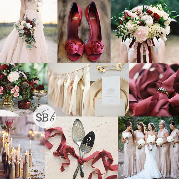 Inspiration Board: Marsala Blush | SouthBound Bride