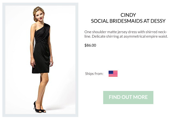 Bridesmaid Boutique: Little Black Bridesmaid Dresses | SouthBound Bride