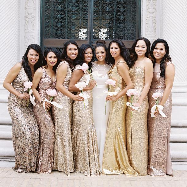 Multi Color bridesmaids drresses