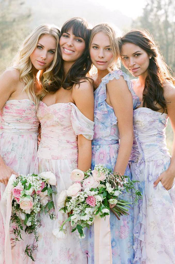 floral-print-pastel-bridesmaid-dresses (1)