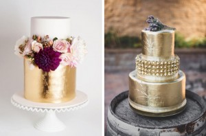 003-metallic wedding cakes as seen on southboundbride